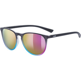 UVEX LGL 43 Occhiali, nero/rosa